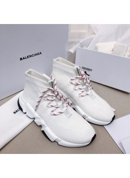 Balenciaga Women's Knitted Sneakers White