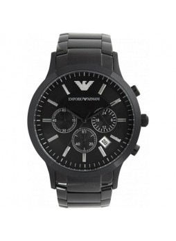 EMPORIO ARMANI AR2453 Quartz Black Dial Stainless Steel Chronograph Men's Watch
