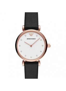 EMPORIO ARMANI Gianni Rose Gold-plated Stainless Steel and Leaher Watch AR11270