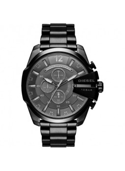 DIESEL Mega Chief Chronograph Black Dial Black Ion-plated Men's Watch DZ4355