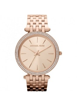 MICHAEL KORS Darci Pavé Rose Gold-Tone Watch MK3192