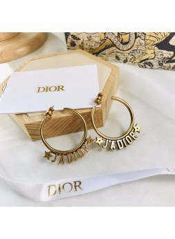 Dior J.Adior Vintage Five-pointed Star Earrings